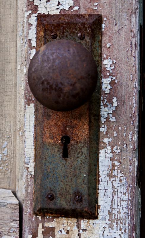 rusty doorknob