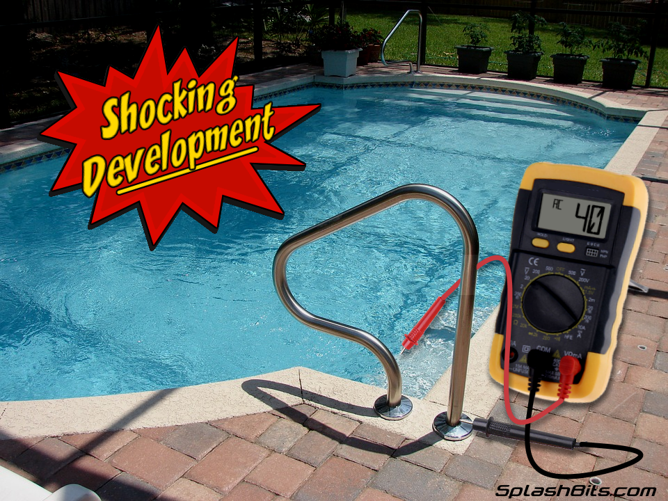 pool with electric meter
