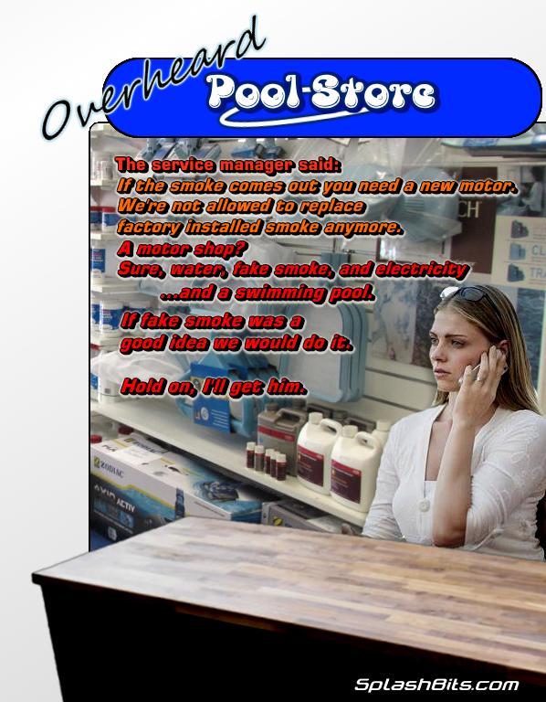 Pool store motor smoke